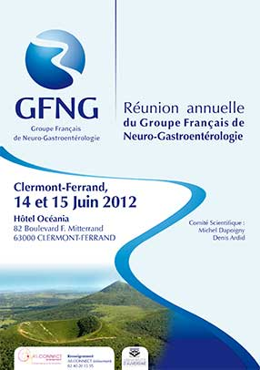 Affiche GFNG reunion annuelle 2012 APSSII (association des patients souffrant du syndrome de l'intestin irritable) ou colopathie fonctionnelle